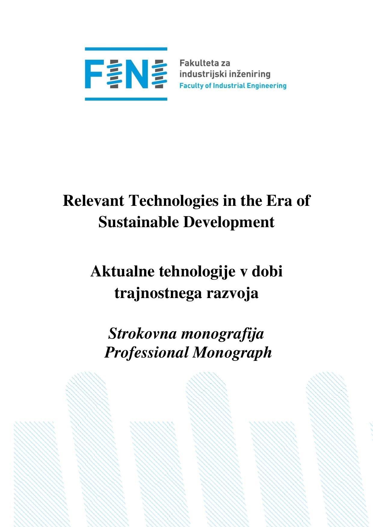 Aktualne tehnologije v dobi trajnostnega razvoja