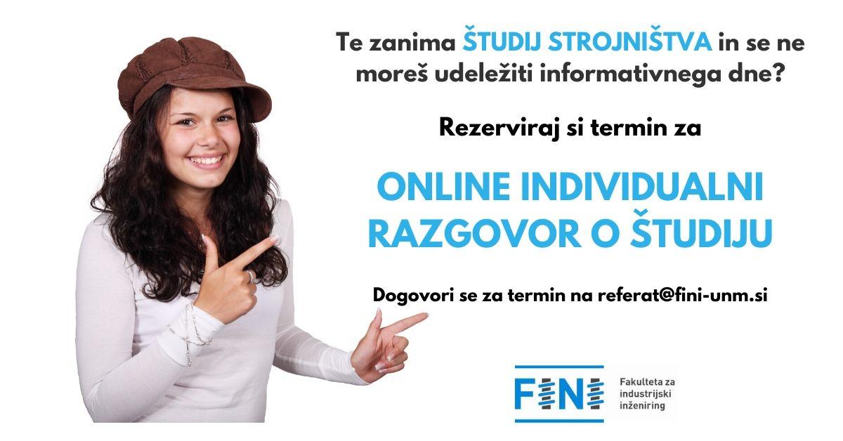 Online individualni razgovor o študiju