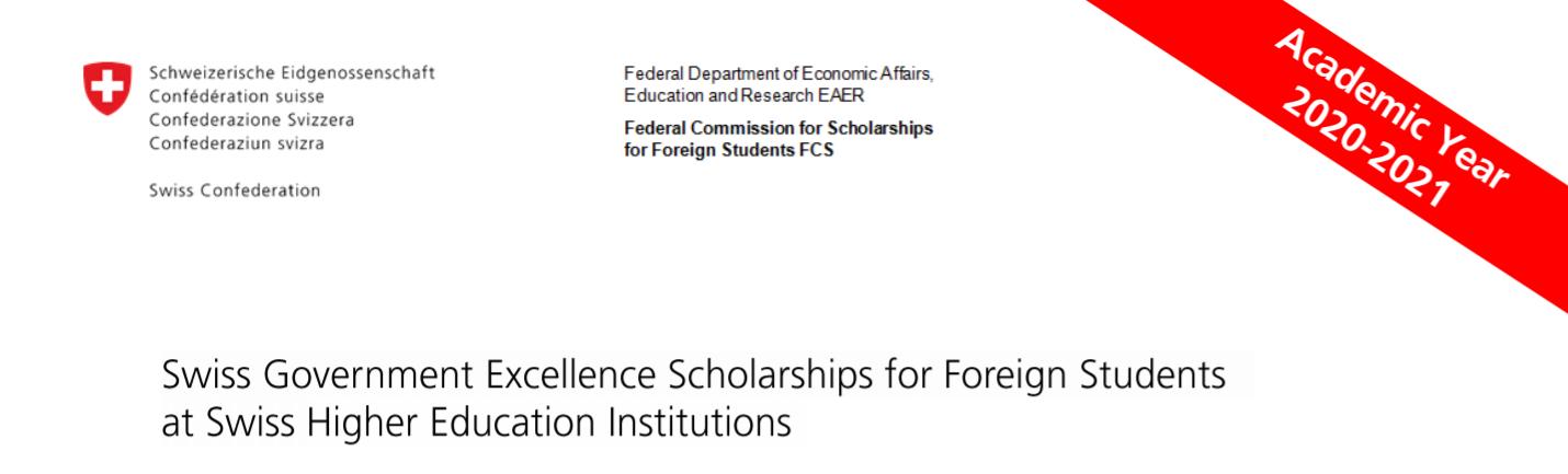 Razpis štipendij za študij v Švici