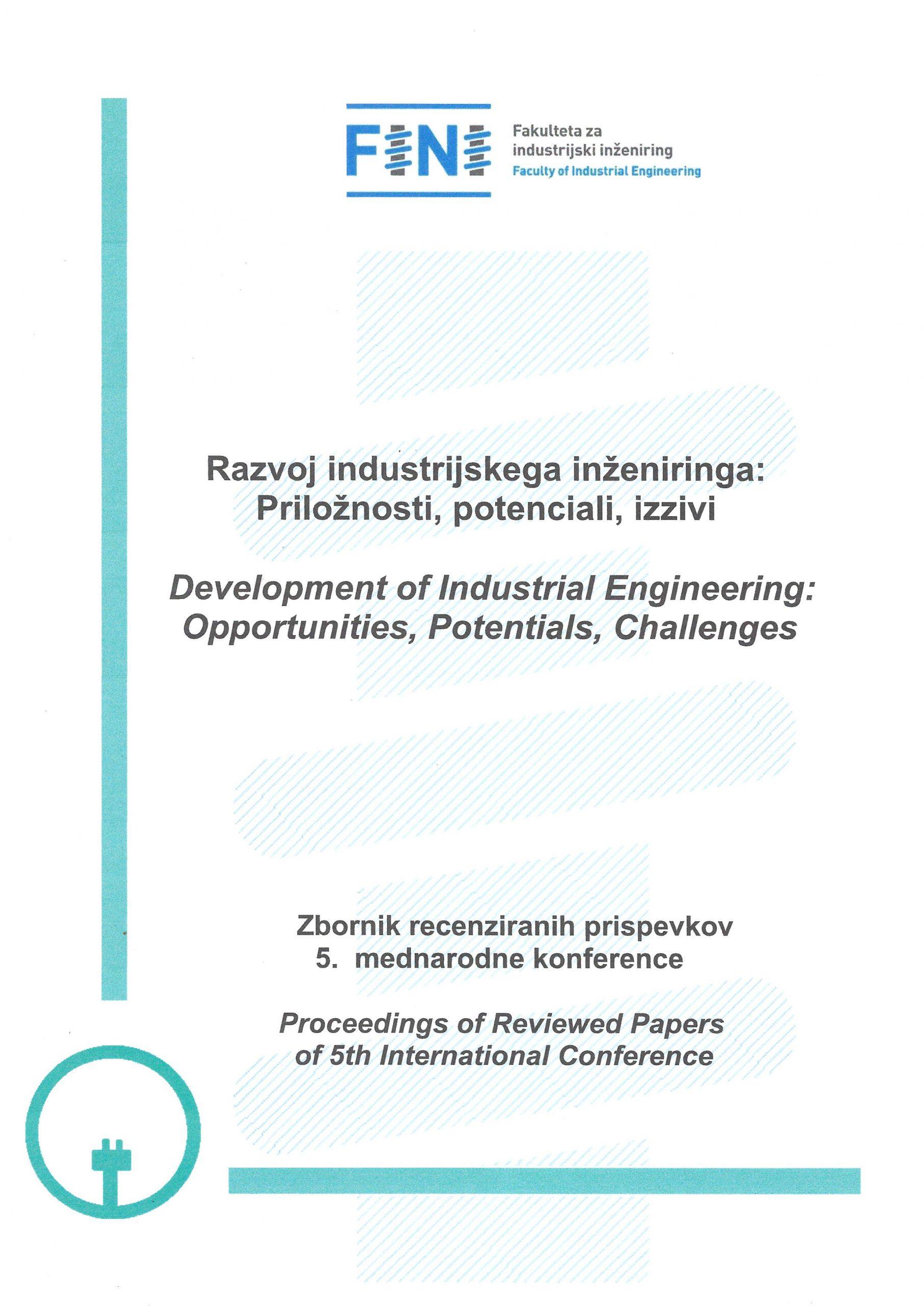 Zbornik recenziranih prispevkov 5. mednarodne konference