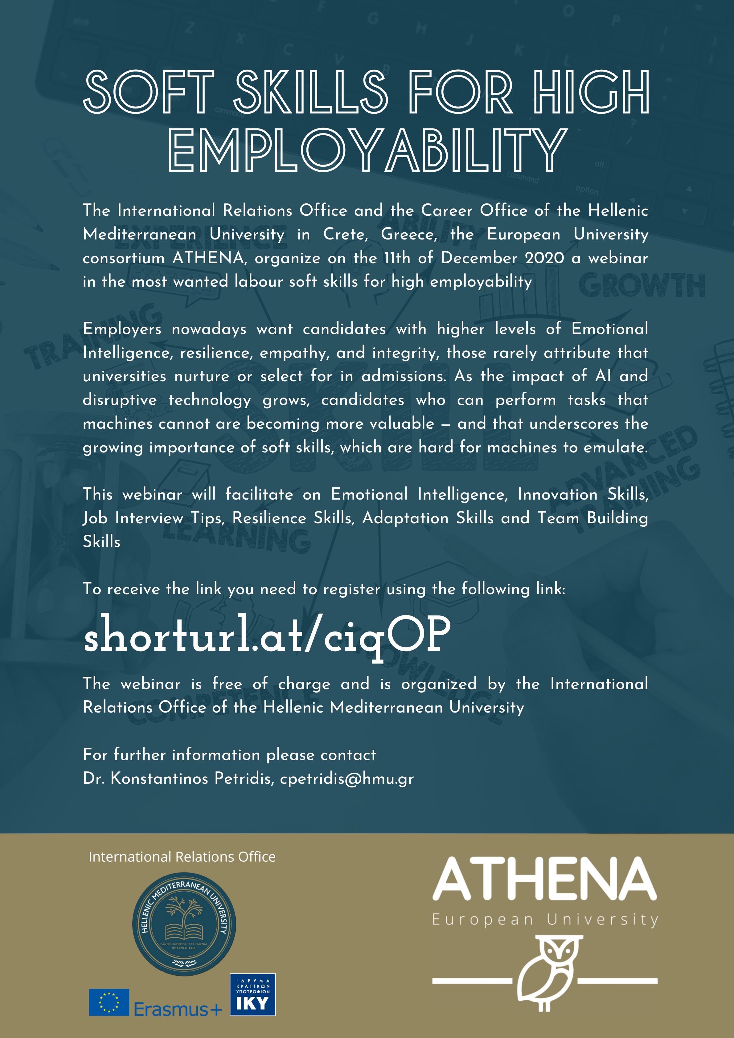 Webinar: Soft skills for high employability