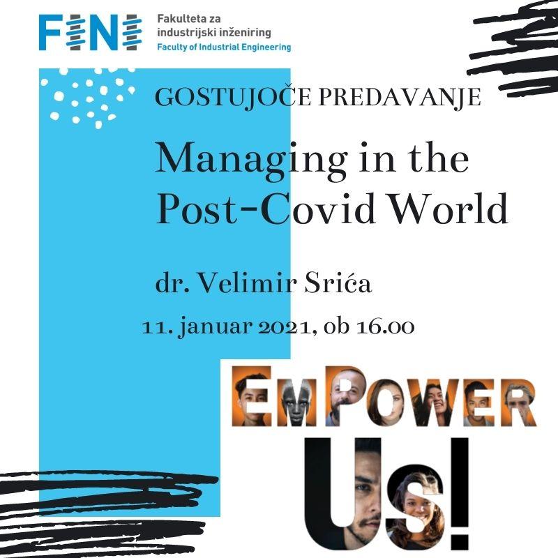 Gostujoče predavanje: Managing in the Post-Covid World