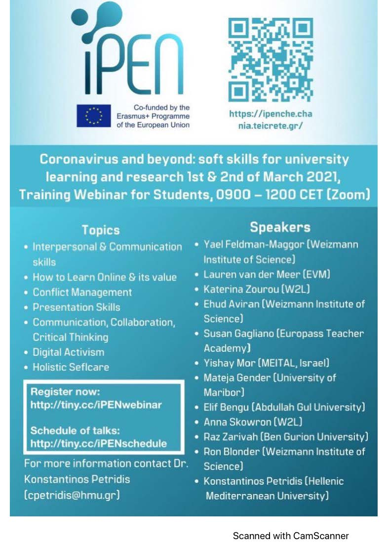 IPEN-Webinar about Soft Skills for Students