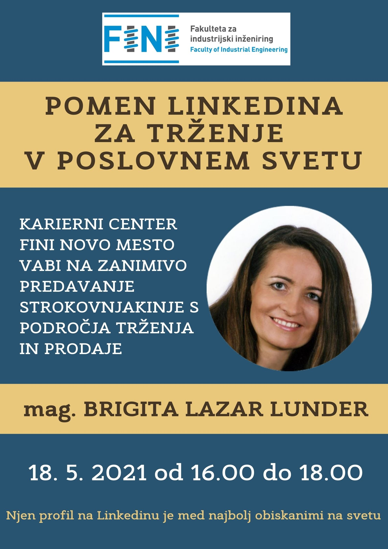 Predavanje Pomen Linkedina za trženje v poslovnem svetu