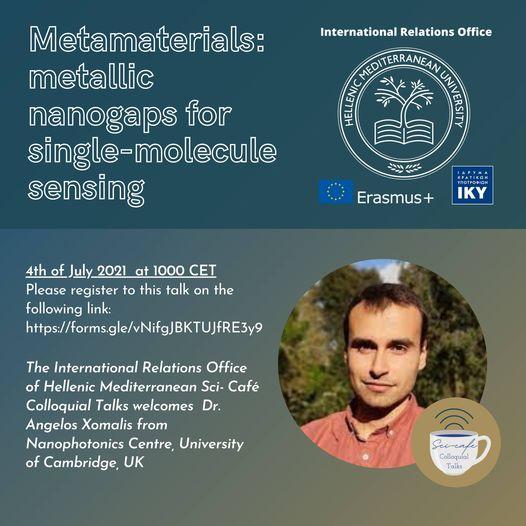 WEBINAR: Metamaterials: metallic nanogaps for single-molecule sensing